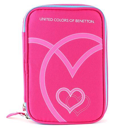 Benetton Iskolai tolltartó töltettel , rózsaszín