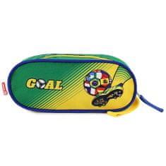 Goal Iskolai tolltartó Goal, elliptikus, zöld-sárga