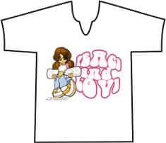 """Spirit Póló Spirit, Póló V BOARDER GIRL PAILLETTE világos rózsaszín """"10"""""""