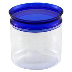 Smart Cook Dóza s uzávěrem , plastová oválná modrá 14,5cm
