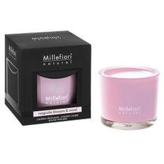 Millefiori Milano Vonná sviečka , Kvety magnólie a drevo, Natural, 180 g