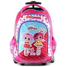 Lalaloopsy Školní batoh trolley , Textilní nášivka