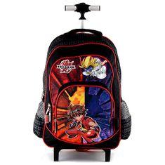 Bakugan Školský plecniak trolley Bakugan, čierno-červený