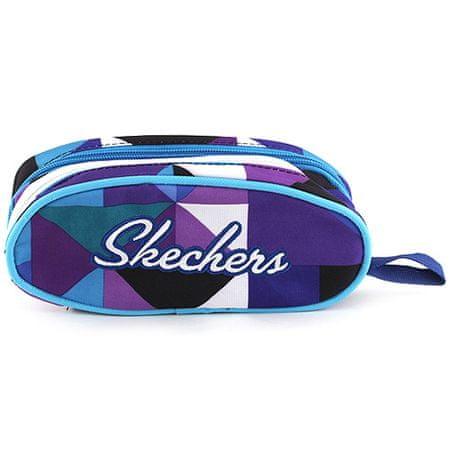 Skechers Pianka szkolna bez wkładu , fioletowo-niebieski z trójkątnym motywem i białym napisem Skec