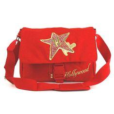 Hollywood Taška přes rameno Star, Taška přes rameno na klip červená