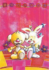 Diddl & Friends Blahopřání Diddl a jeho přátelé, Pimboli a Mimihopps, bez textu