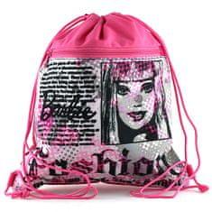 Barbie Športna torba , roza-črna, motiv časopisa
