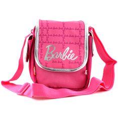 Barbie Kabelka cez plece , ružovo/strieborná, s nápisom