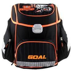 Goal Cél iskolai táska, 3D cél, fekete színű