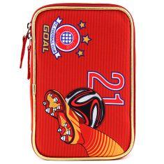 Goal Piórnik szkolny z wypełnieniem docelowym, Bramka, kolor czerwony