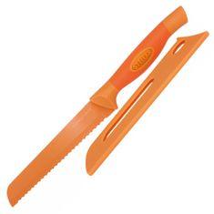 Stellar Nůž na chléb , Colourtone, čepel nerezová, 18 cm, oranžový