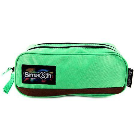 Smash Iskolai ceruzatok utántöltő nélkül, zöld, 2 zsebbel