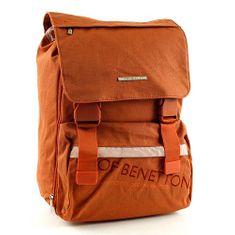 Benetton Iskolai hátizsák Benetton, csatos narancssárga