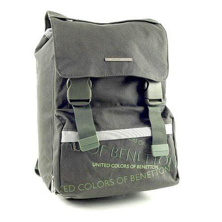 Benetton Iskolai hátizsák , csatos zöld