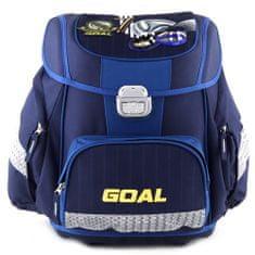 Goal Cél iskolai táska, 3D cél, sötétkék színű