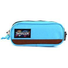 Smash Školní penál bez náplně , světle modrý, 2 kapsy