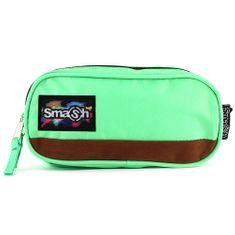 Smash Školní penál bez náplně , zelený, 2 kapsy
