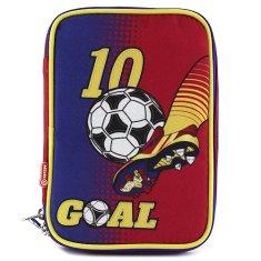 Goal Iskolai tolltartó töltettel Goal, egyemeletes, kék/sárga