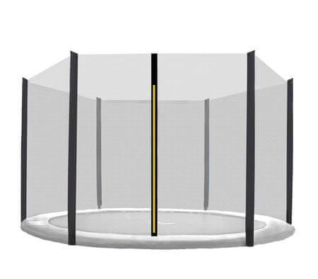 Aga Siatka do trampoliny 220cm 7ft zewnętrzna na 6 słupków Black net / Black