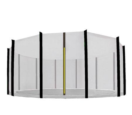 Aga Siatka do trampoliny 518cm 17ft zewnętrzna na 12 słupków Black net / Black