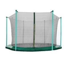 Aga 305 cm (10 ft) 8 rudas trambulin belső védőháló Black