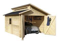 KARIBU dřevěná garáž KARIBU 58440 28 mm natur
