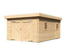KARIBU dřevěná garáž KARIBU 68284 40 mm natur