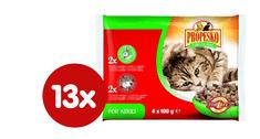 Propesko hrana za odrasle mačke, govedina in zajec, 13 x (4 x 100 g)
