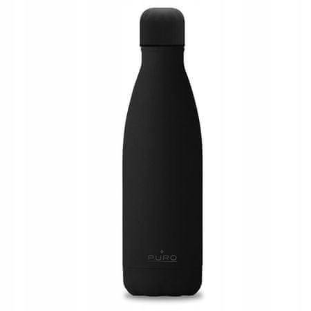 Puro Icon termo steklenica, nerjaveče jeklo, 500 ml. črna