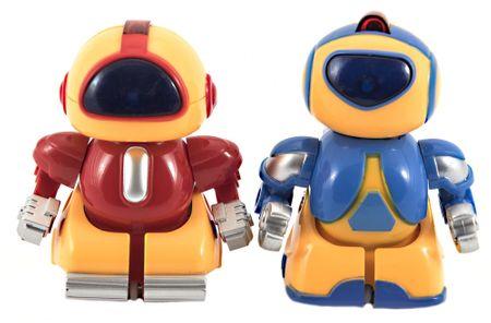 Teddies mini roboti RC borci, 2 komada, plastika, 8 cm, baterije, svjetleći
