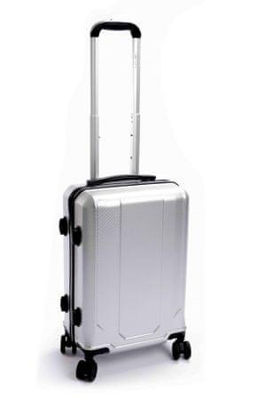 Leonardo kabinový cestovní kufr 33x23x55 cm šedá