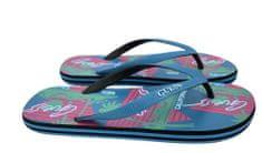 Guess Plážové žabky F92Z08-B00H modro-růžová - GUESS