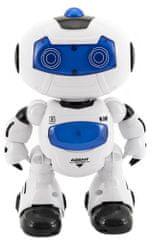 Teddies Robot RC chodiaci plast 20cm na batérie so svetlom so zvukom v krabici 22x26x10,5cm