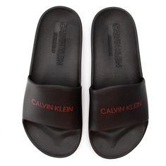 Calvin Klein Pantofle KM0KM00375-001 černá - Calvin Klein