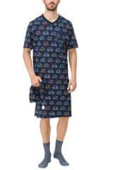 Vamp Pánská noční košile 11666-253 tmavě modrá - Vamp