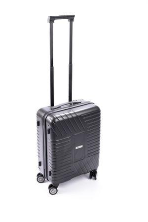Leonardo kabinový cestovný kufor 38x21x55 cm sivá