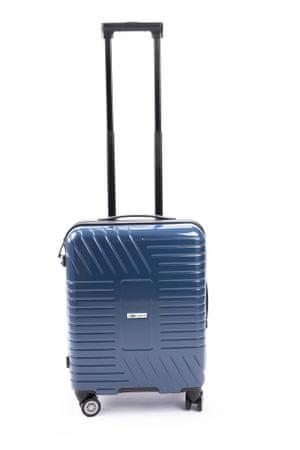 Leonardo fedélzeti utazó bőrönd 38x21x55 cm kék