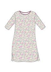Cornette Dámská noční košile Cornette 641/198 Flowers 5 3/4 S-2XL