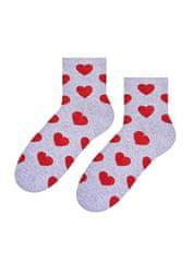 STEVEN Dámské ponožky Steven art.014 Srdíčka