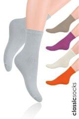 STEVEN Hladké dámské ponožky Steven art.037