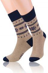 STEVEN Pánské vzorované ponožky Steven frotte art.122
