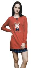 Noi Di Notte Dámská noční košile LA2010PB červená - Noidinotte
