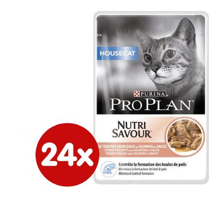 Purina Pro Plan Cat Housecat Lazac Macskaeledel, 24 x 85 g
