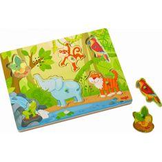 HABA Vkladacie puzzle hudobné Džungľa