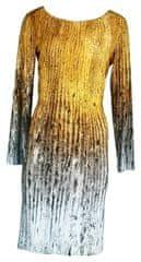 Favab Dámské šaty Duna s barevným potiskem a Swaroski kamínky - Favab