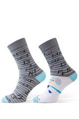 Sesto Senso Pánské ponožky Sesto Senso Finest cotton - Netvoří sladěný pár!