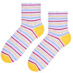 STEVEN Dámské pruhované ponožky 037