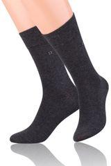 STEVEN Hladké pánské ponožky s jemným vzorem 056