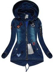 Amando Riflová bunda s nášivkami W523, granátová