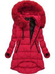 Amando Asymetrická zimná bunda X7670BIGX červená